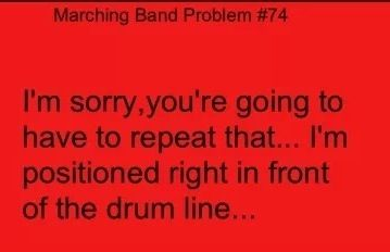 Marching Band Problems right in front of them for 97% of the show.