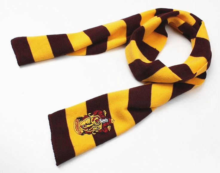 If you'd like to dress as a Hogwarts student, you'll need a house scarf to complete your ensemble. These scarves are 17cm width and 150cm long, made of cozy lambswool, and feature the colors and coat