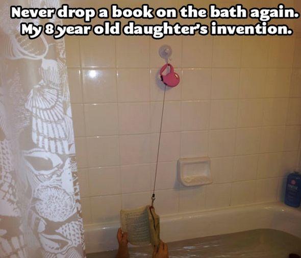 Never drop a book in the bath again!