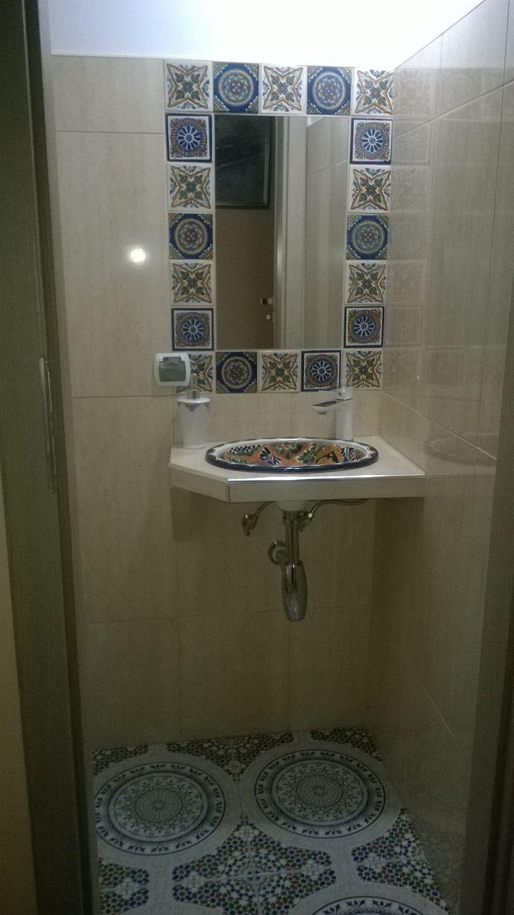 Katarzyna Lewandowska - łazienka dla gości w restauracji Mexicana w Głogowie, a w niej marokańskie płytki ceramiczne TOUSKA
