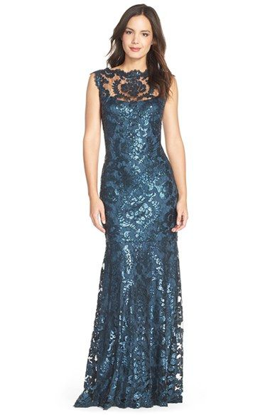 Tadashi+Shoji+Sequin+Lace+Mermaid+Gown+(Regular+&+Petite)+available+at+#Nordstrom