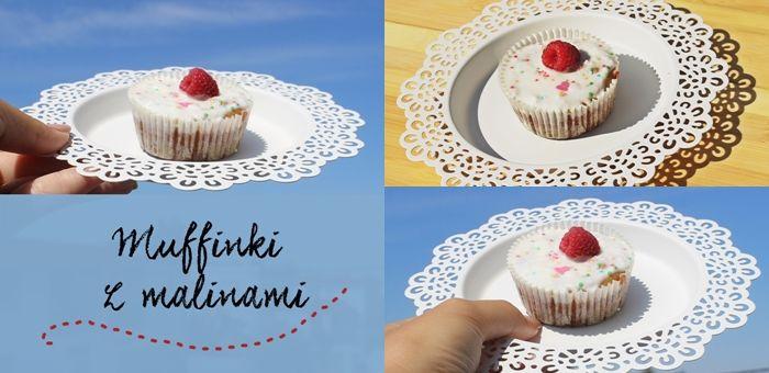 Muffinki (babeczki) z białą czekoladą i malinami  - prosty przepis, którego nie…