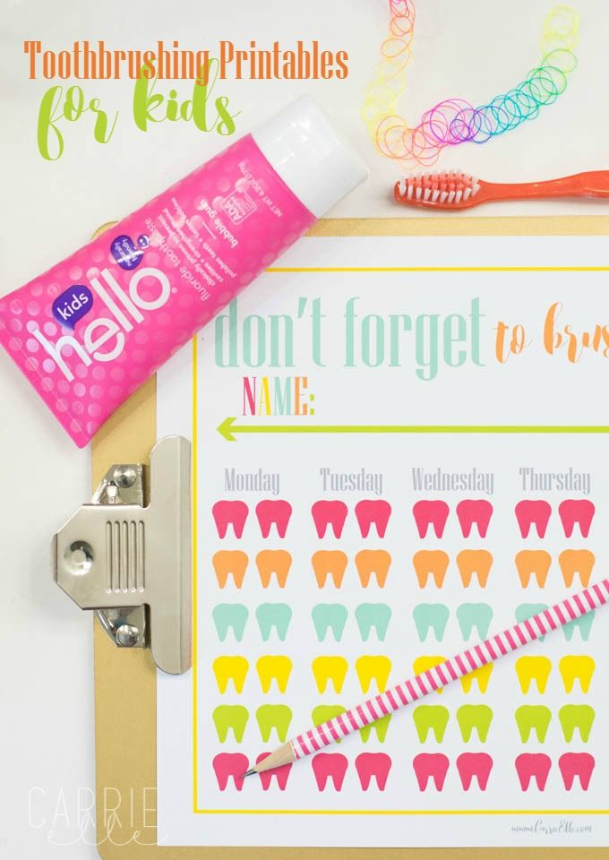 Get your kids to brush with this cute toothbrushing printable for kids (sponsored by hello prodocuts)
