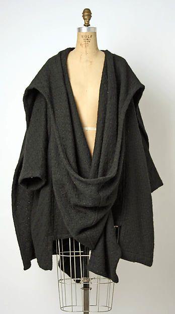 Wool Cape c. 1984. Design Comme des Garçons.