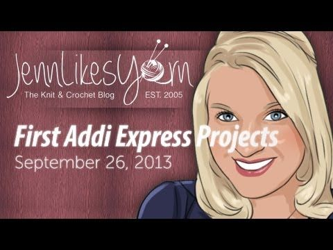 [PROJECT SHARE] My First Addi Express Hats - YouTube