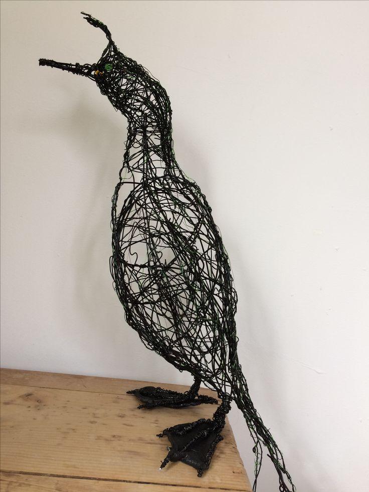 Wire Bird Sculpture Shag