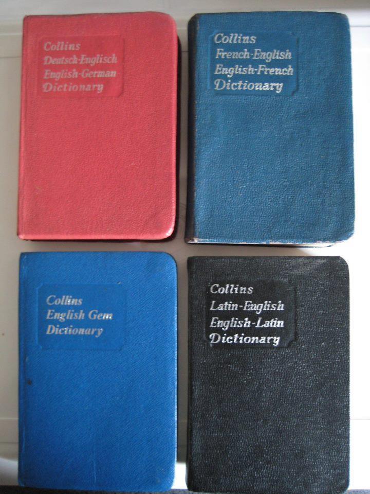 Pocket dictionaries - no computer spell checks for us...