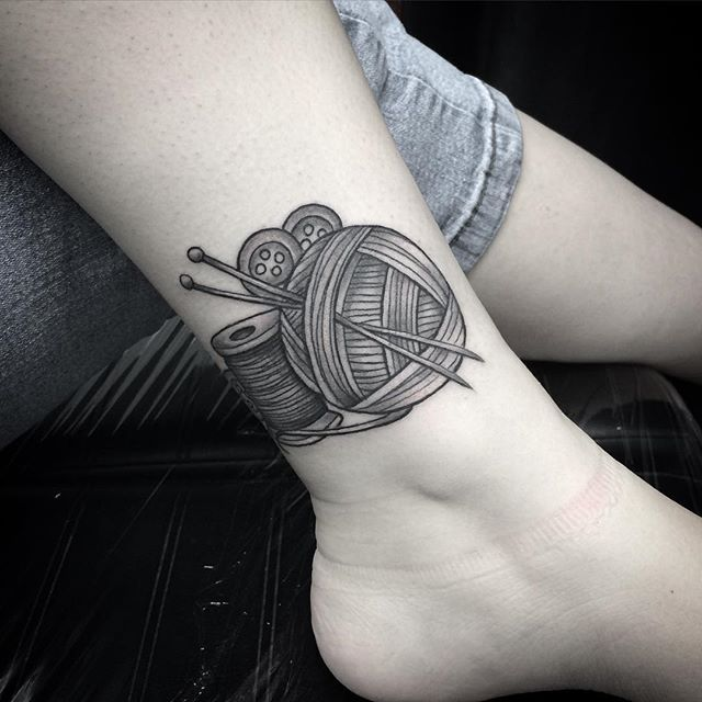 Knitting Tattoo by Lu Loram-Martin