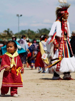 Tribal tourism:::  Pine Ridge Indian Reservation hosts the Oglala Nation Powwow & Rodeo every August.  South Dakota:::