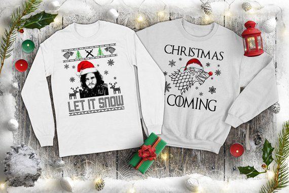 Let it snow Jon Snow Ugly Christmas Sweater Unisex Sweatshirts