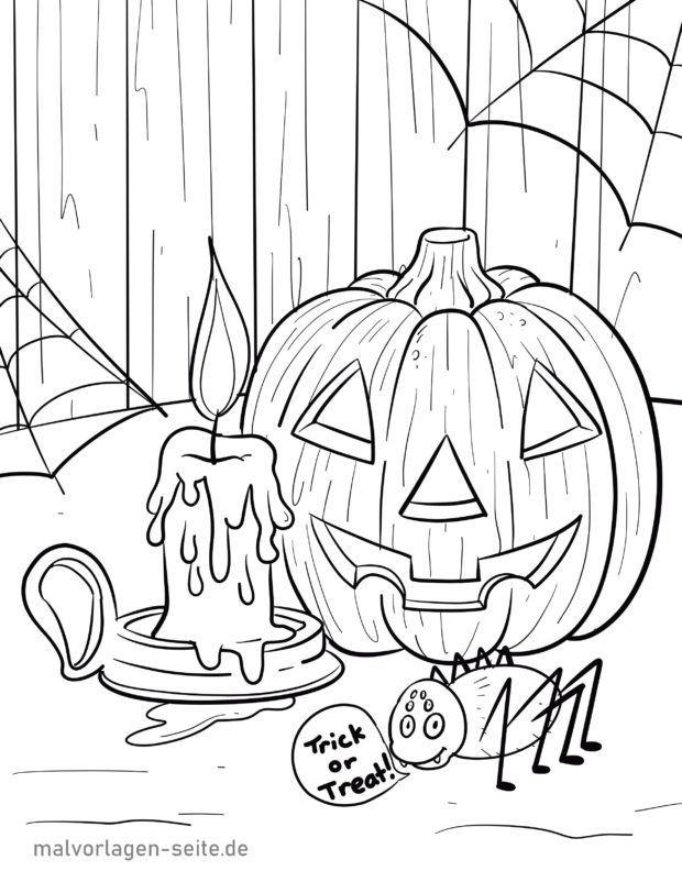 Malvorlage Halloween   Feiertage   Kostenlose Ausmalbilder ...