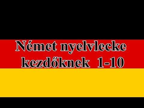 Német nyelvlecke kezdőknek  1-10