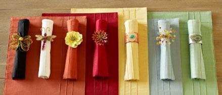 cute napkins/rings
