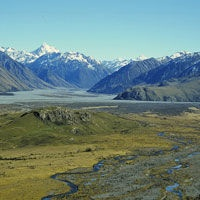 Mt. Sunday, Ashburton, New Zealand (where Edoras was located in Lord of the Rings)