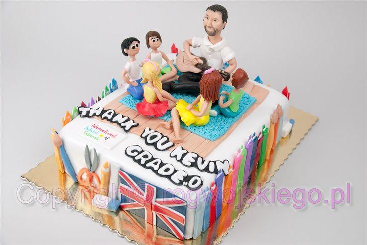 tort na zakończenie szkoły, tort dla nauczyciela, tort do szkoły, tort do przedszkola http://rogwojskiego.pl