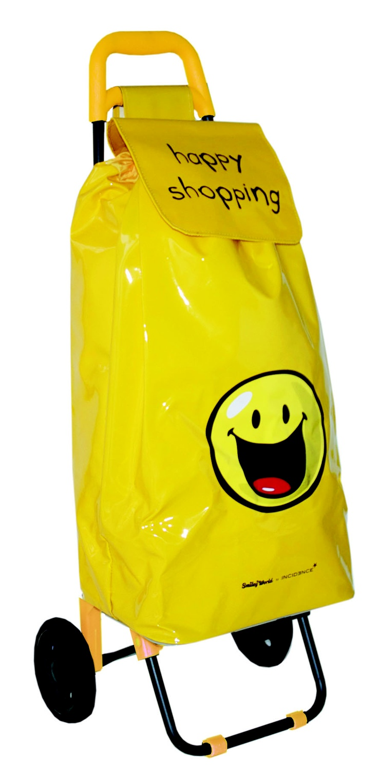Sac à roulettes Happy shopping  Incidence    Un sac à roulettes pour un shopping facile!    Pratique et coloré le sac à roulettes Happy shopping vous donnera le sourire.     40€