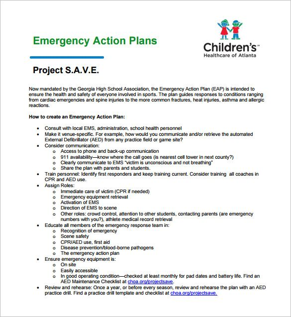 Emergency Action Plans Examples Emergency Action Plans How To