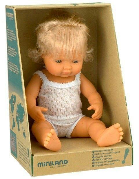Miniland - Doll Caucasian Girl 38cm