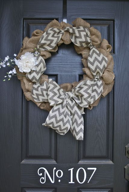 Ashley made this for our housewarming gift. We used a grapevine wreath and just the red and burlap chevron. Beautiful! Pictures on my facebook!
