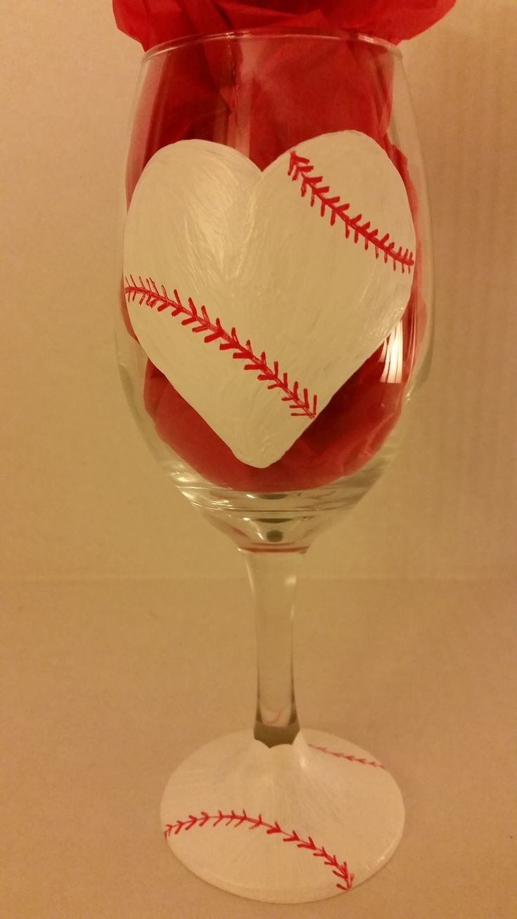 "Gotta love Baseball!  Baseball Wine Glass I can add ""Whatever"" you like to the back... such as ""Baseball Mom""  I can add initials to the base... ""Whatever"" you like!"