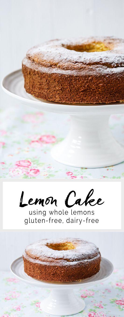 Lemon Cake using whole lemons. Gluten-free & dairy-free | eatlittlebird.com