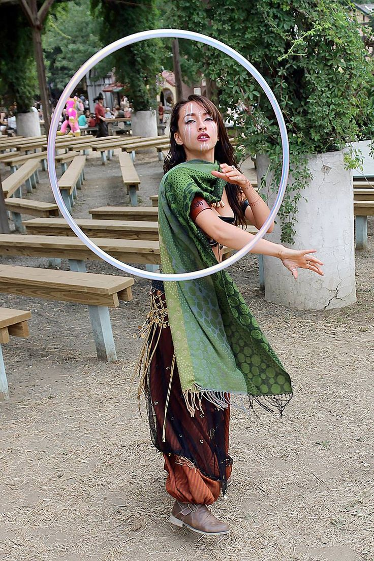 Ayla Roda's Maryland Rennaissance Festival Hooping Magic. We love her levitating hoop & tribal makeup too! Photo by Greyloch Photography.