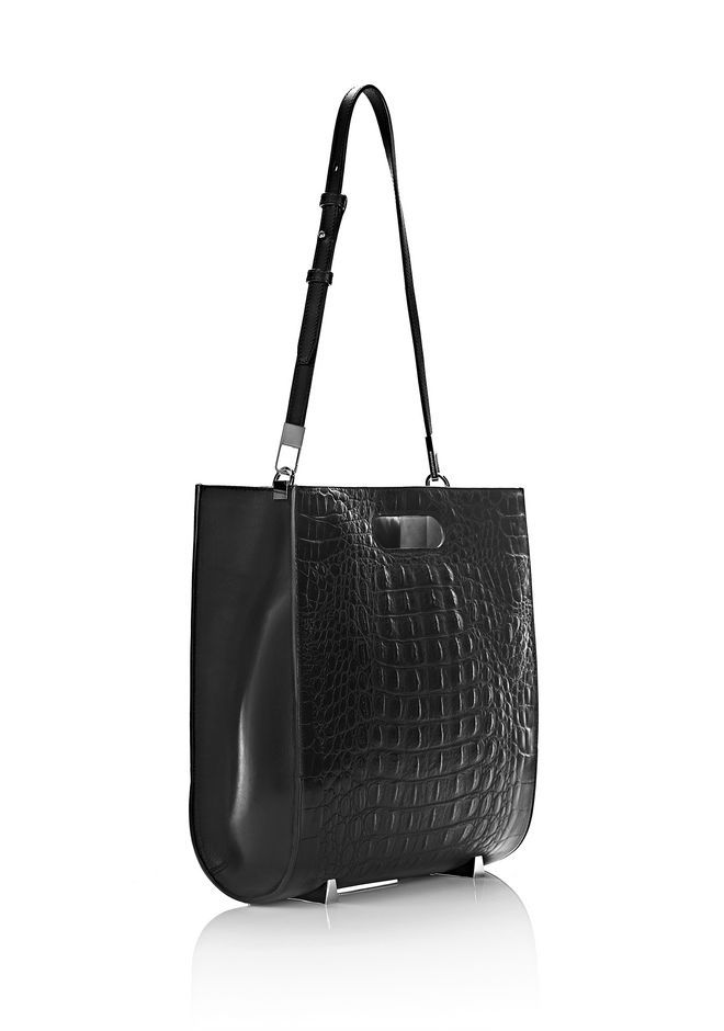 EXCLUSIVE CHASTITY TOTE IN EMBOSSED BLACK WITH PALE GOLD - メッセンジャーバッグ レディース - Alexander Wang 【アレキサンダーワン公式オンラインストア】