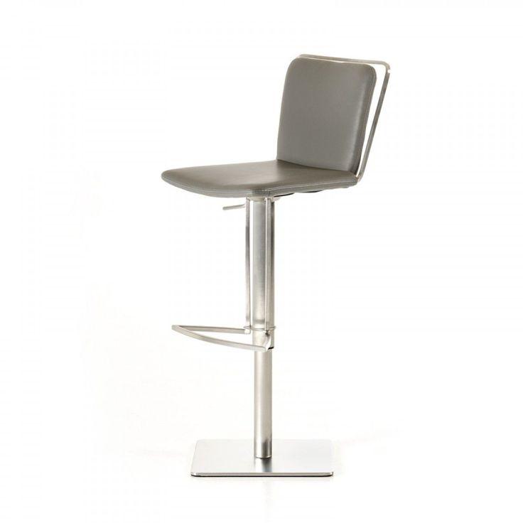modrest nora modern grey bar stool