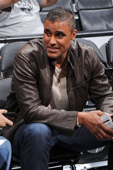 Former Laker Rick Fox attends the Warriors @ Lakers game at Staples Center on April 12, 2013.