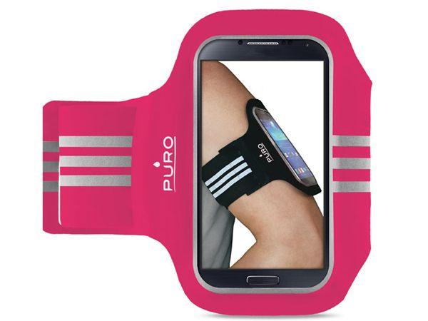 """Θήκη PURO sport Universal Armband έως 5"""" ροζ sport smartphone case accessories run"""