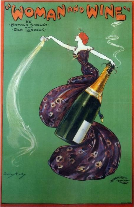 Woman and Champagne