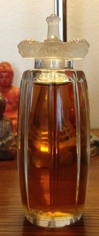 *1911 Lalique Perfume Bottle ~Styx/Carnette Guepes (carnette = gordel of rand) 11,5cm for Coty