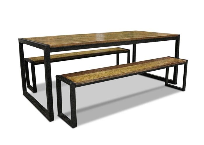 Solid Mango Wood Steel Frame