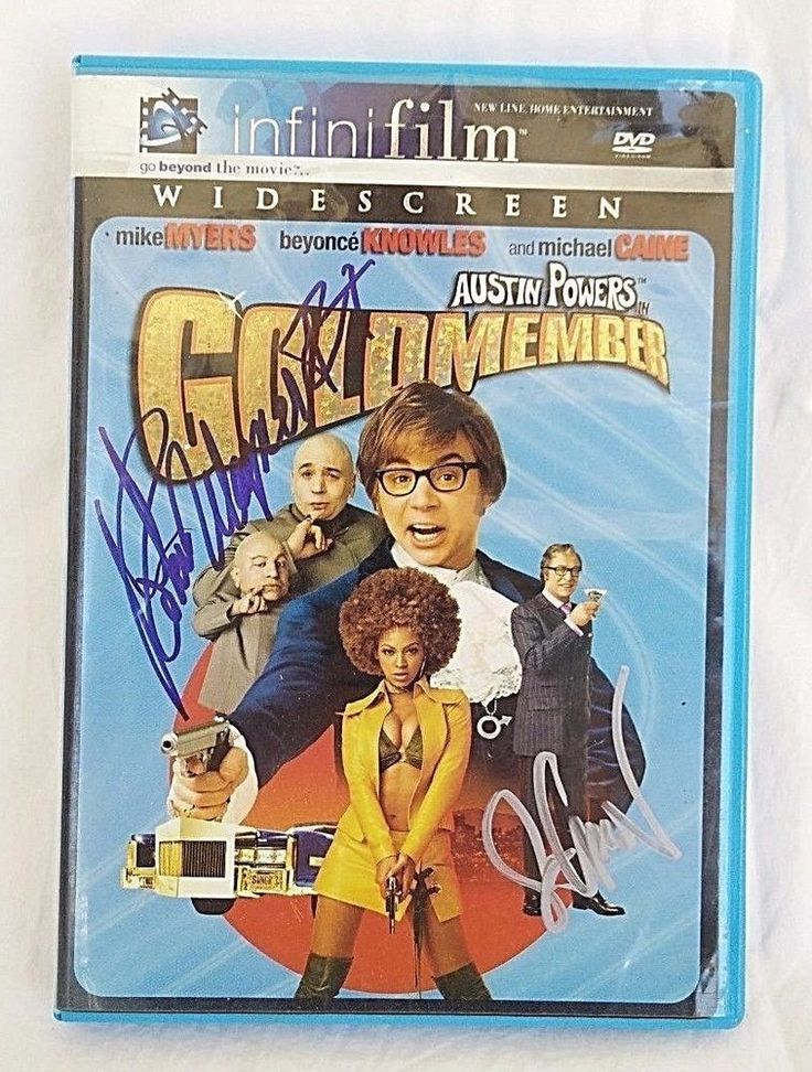 Austin Powers in Goldmember DVD Autographed by Seth Green & Robert Wagoner