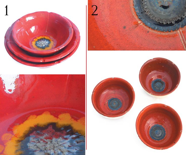 Two versions of puppy bowls.
