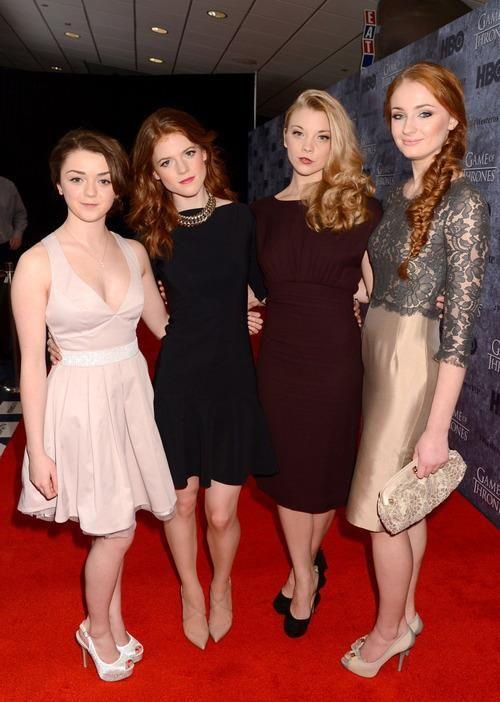Maisie Williams, Rose Leslie, Natalie Dormer, Sophie Turner