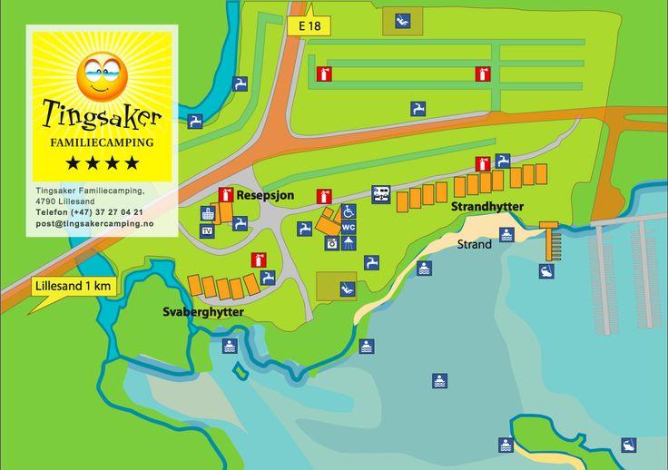 Kart over Campingplassen