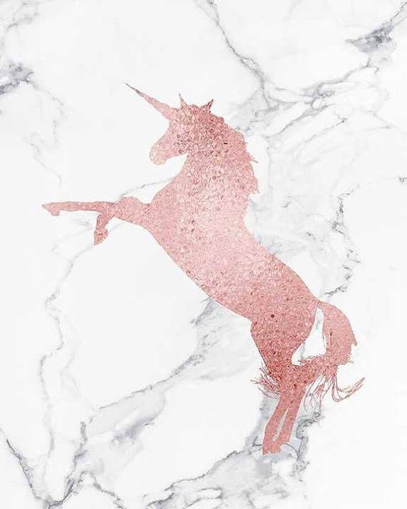 Pink Unicorn Art Unicorn Poster Art Rose Gold Unicorn Wall Unicorn Art Unicorn Backgrounds Unicorn Poster