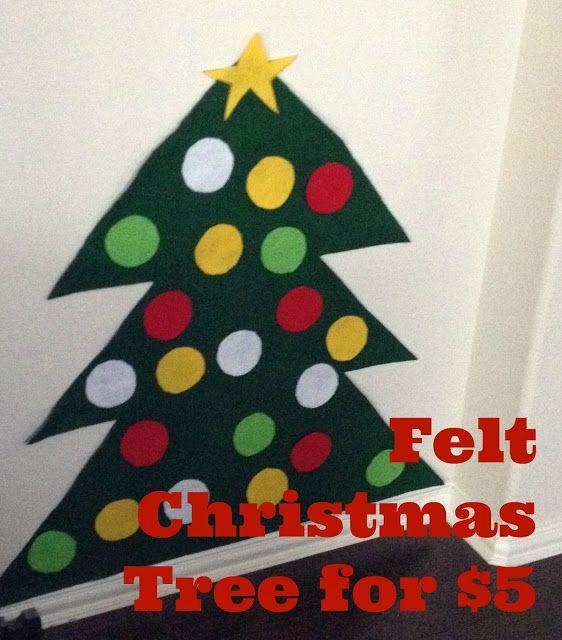 felt christmas tree 5 craft christmas craft for toddler diy christmas tree inexpensive. Black Bedroom Furniture Sets. Home Design Ideas