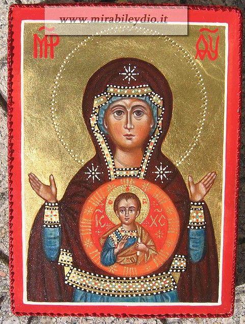 madre di Dio del Segno  -per mano di Cristina Capella -2015