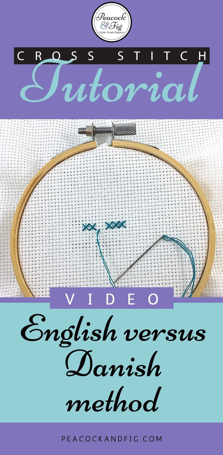 Ever wondered how to do a cross stitch? This quick video tutorial will show you the two methods: the English method and Danish method. Check it out and see which one you prefer!