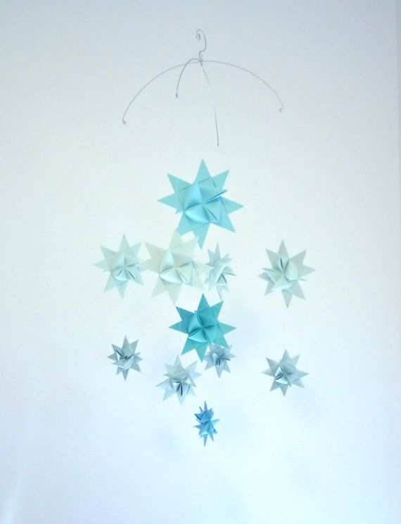 Baby Crib Mobile Hanging Origami Stars 'Ursa by theStarcraft, Customize colors