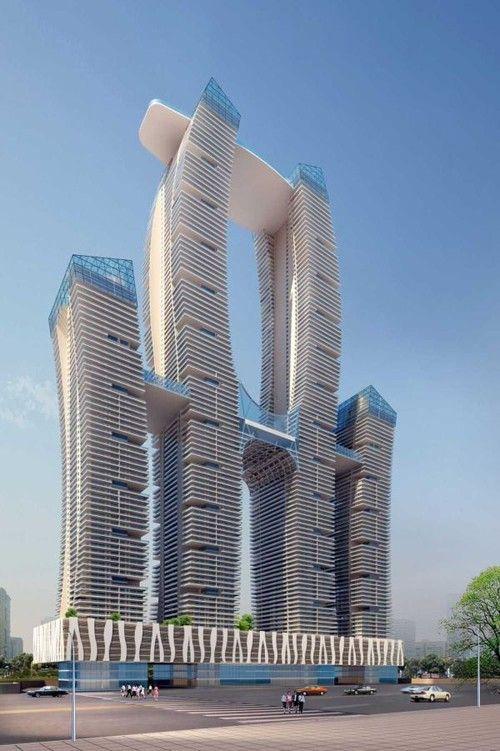 futuristic, architecture, structure, future, concept ...