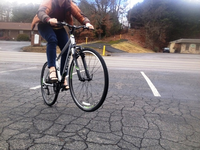 Gettin' after it in clipless heels!