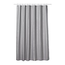 IKEA - SALTGRUND, Shower curtain, , Two-sided woven polyester which gives a soft fall and a decorative pattern on both sides.Densely-woven polyester fabric with water-repellent coating.