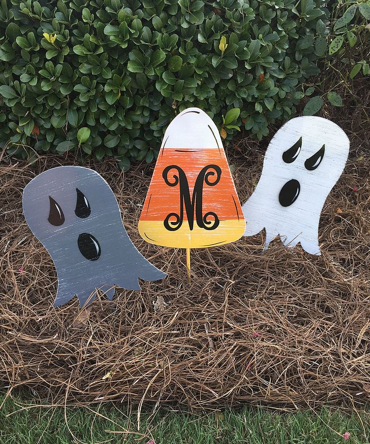 Take a look at this Ghost & Candy Corn Yard Stake Set today!