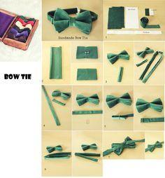 Bow Tie handmade/Cravate papillon maison/Галстук бабочка своими руками