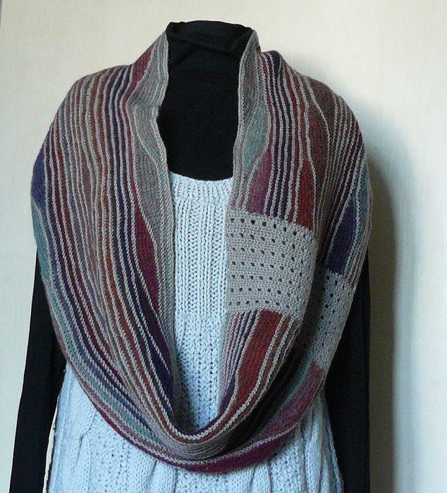 Modern infinity scarf wool Purple gray knit cape women Cowl neck warmer Birthday gift for her #infinityscarf #woolscarf #knitscarf #knittedscarf #modernscarf #Cowl #neckwarmer #gift #forher #cape #knitcape #knittingswing #swing #knittingcowl #fiberart #knitneckwarmer #ecowool