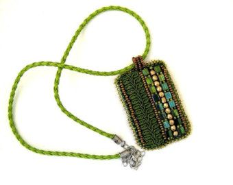Collar de declaración Cerceta collar collar peyote por ibics