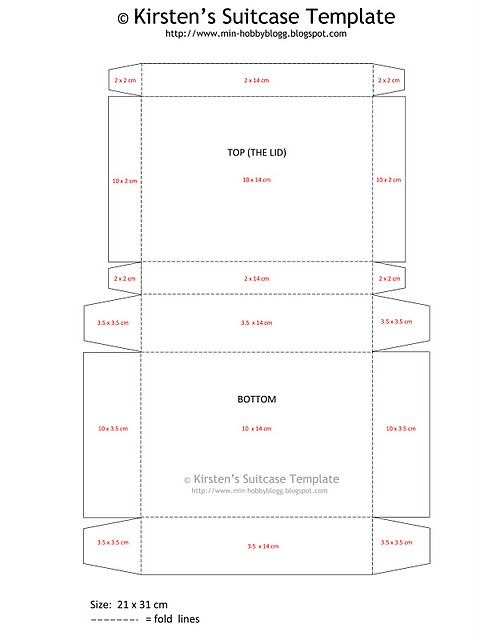 suitcase template (for a suitcase out of craft paper)
